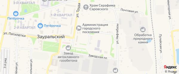 Комсомольская улица на карте Зауральского поселка с номерами домов