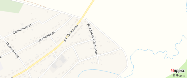 Улица Красных Партизан на карте Есаульского поселка с номерами домов