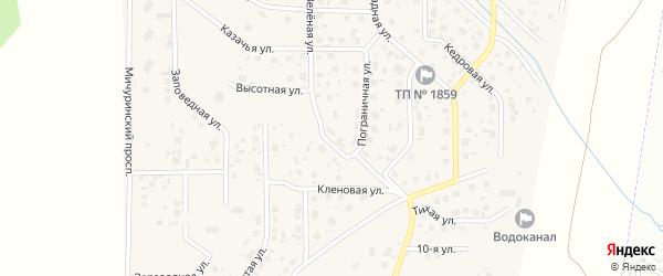 Зеленая улица на карте поселка Вавиловца с номерами домов