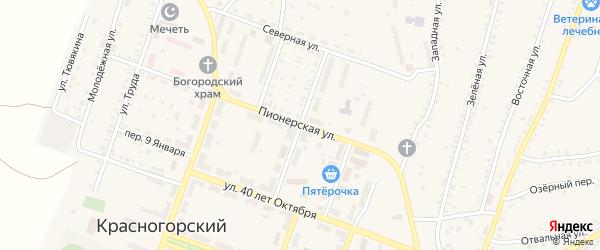 Улица Пушкина на карте Красногорского поселка с номерами домов
