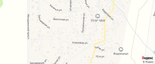 Зеленая улица на карте поселка Смолина ж-д. ст. с номерами домов