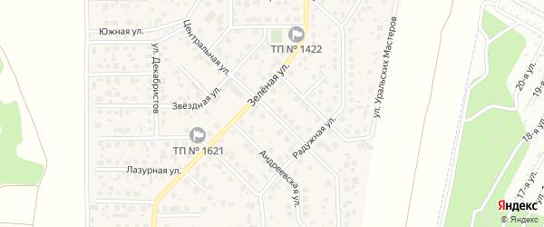 Центральная улица на карте поселка Вавиловца с номерами домов