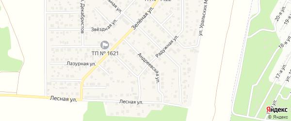 Андреевская улица на карте поселка Вавиловца с номерами домов