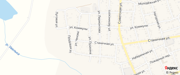 Улица Пушкина на карте Южноуральска с номерами домов