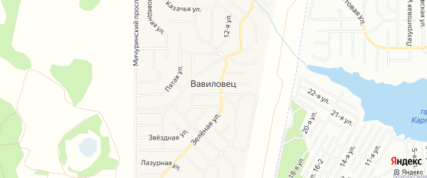 Карта поселка Вавиловца в Челябинской области с улицами и номерами домов