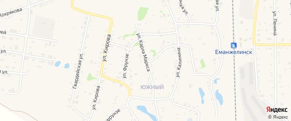 Улица Карла Маркса на карте Зауральского поселка с номерами домов