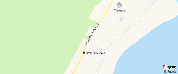 Молодежная улица на карте деревни Карагайкуля с номерами домов