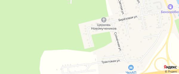 Сосновая улица на карте поселка Саргазы с номерами домов