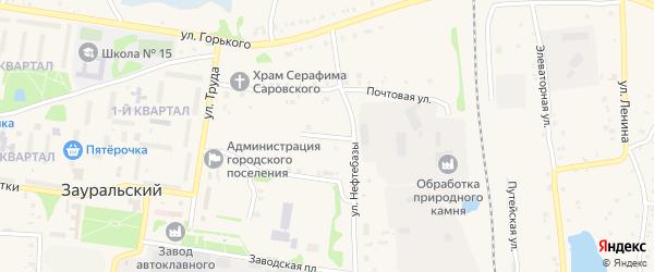 Рождественская улица на карте Зауральского поселка с номерами домов
