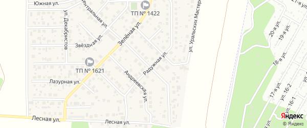 Радужная улица на карте поселка Вавиловца с номерами домов
