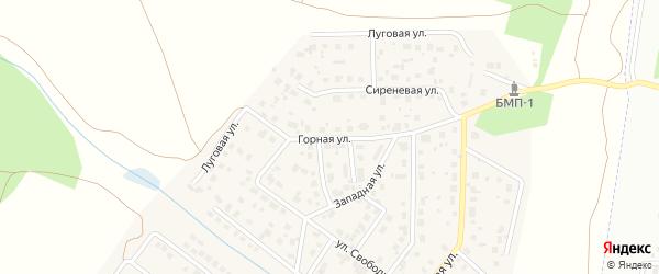 Горная улица на карте поселка Вавиловца с номерами домов