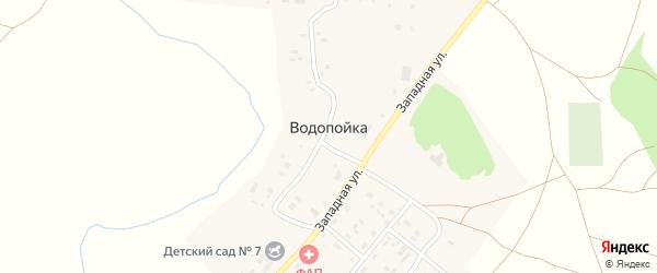 Садовая улица на карте деревни Водопойки с номерами домов