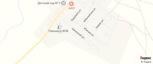 Школьная улица на карте деревни Водопойки с номерами домов