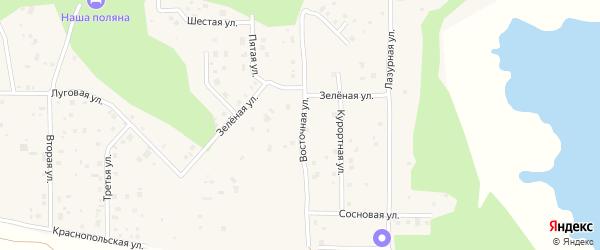 Восточная улица на карте деревни Моховички с номерами домов