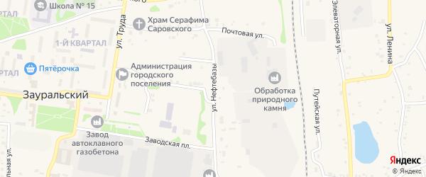 Улица Калинина на карте Зауральского поселка с номерами домов