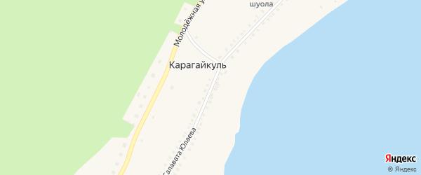 Улица С.Юлаева на карте деревни Карагайкуля с номерами домов