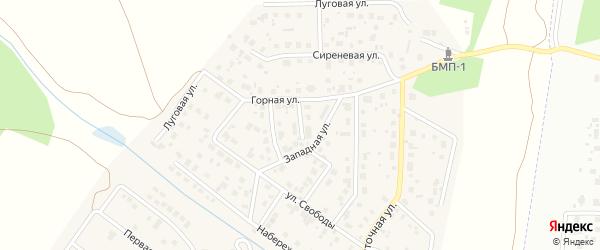 Киевская улица на карте поселка Вавиловца с номерами домов