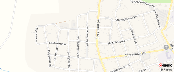 Улица Белинского на карте Южноуральска с номерами домов