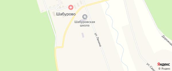 Дорожная улица на карте села Шабурово с номерами домов