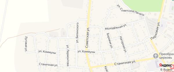 Советская улица на карте Южноуральска с номерами домов