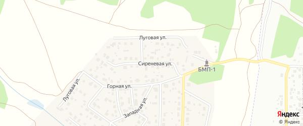 Сиреневая улица на карте поселка Вавиловца с номерами домов