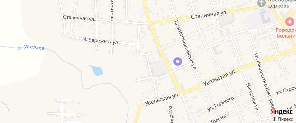 Колхозная улица на карте Южноуральска с номерами домов
