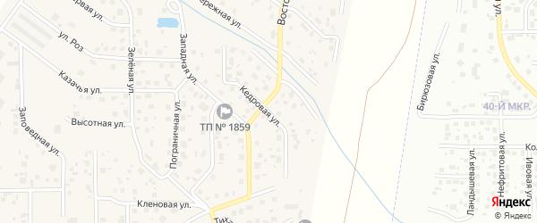 Кедровая улица на карте поселка Вавиловца с номерами домов