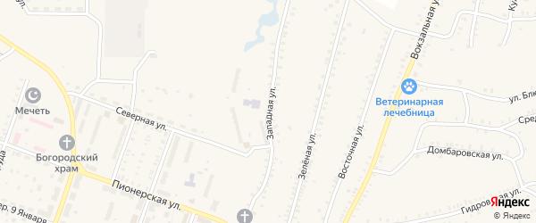 Западная улица на карте Красногорского поселка с номерами домов