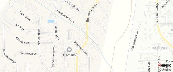 Восточная улица на карте поселка Вавиловца с номерами домов