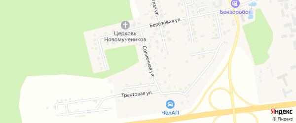 Солнечная улица на карте поселка Саргазы с номерами домов