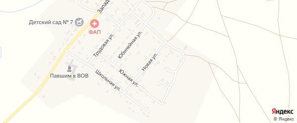 Новая улица на карте деревни Водопойки с номерами домов