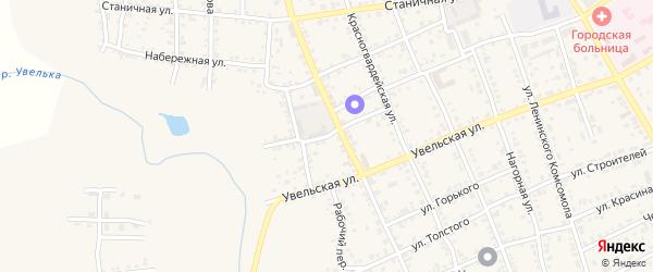 Базарная улица на карте Южноуральска с номерами домов