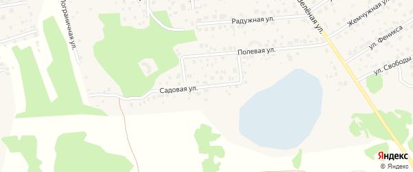 Садовая улица на карте поселка Красного Поля с номерами домов