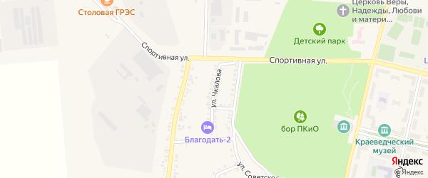 Улица Чкалова на карте Южноуральска с номерами домов