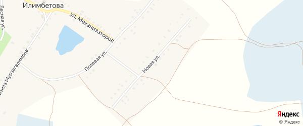 Новая улица на карте деревни Илимбетова с номерами домов