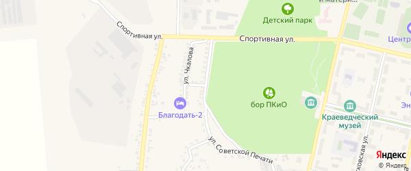 Улица Советской Печати на карте Южноуральска с номерами домов