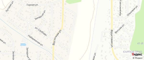 Улица Уральских мастеров на карте поселка Вавиловца с номерами домов