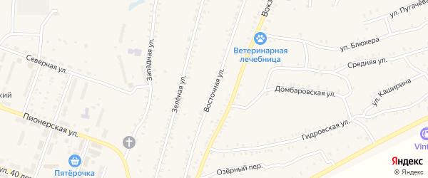 Восточная улица на карте Красногорского поселка с номерами домов