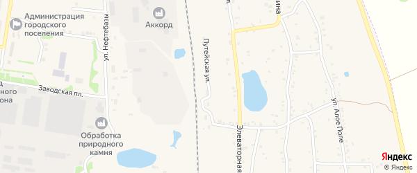 Путейская улица на карте Зауральского поселка с номерами домов