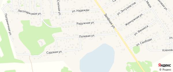 Полевая улица на карте поселка Красного Поля с номерами домов