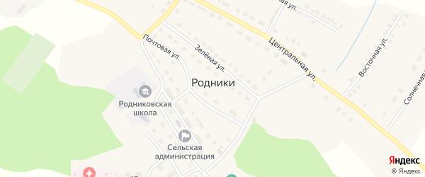 Улица Просвещения на карте поселка Родники с номерами домов