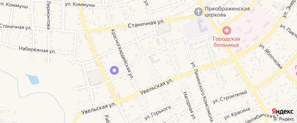 Боровая улица на карте Южноуральска с номерами домов