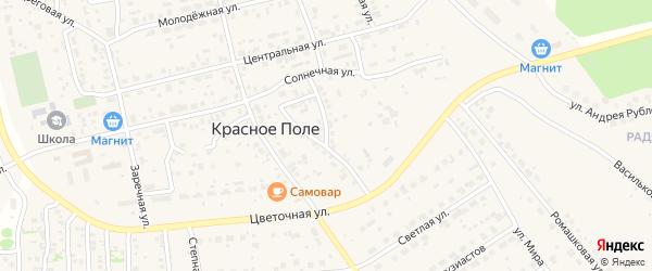 Окружная улица на карте поселка Красного Поля с номерами домов
