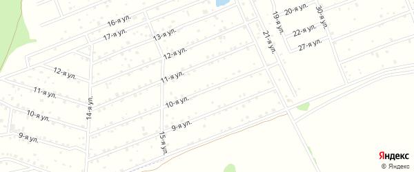 СНТ ТИМЕР на карте деревни Дербишева с номерами домов