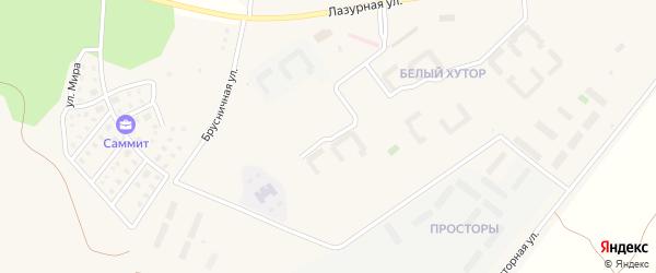 Улица Береговая (мкр Белый хутор) на карте Западного поселка с номерами домов