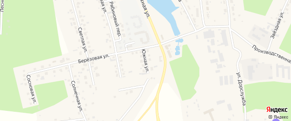 Южная улица на карте поселка Саргазы с номерами домов