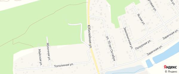 Юбилейная улица на карте поселка Саргазы с номерами домов