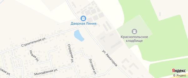 Улица Авиаторов на карте поселка Красного Поля с номерами домов