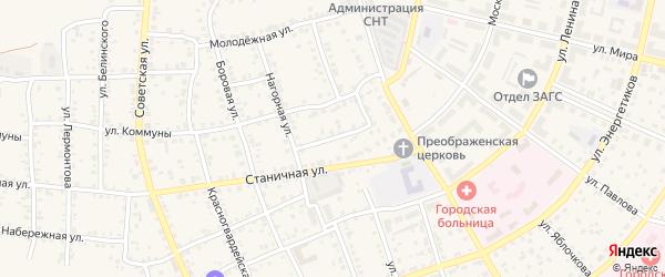 Комсомольский переулок на карте Южноуральска с номерами домов