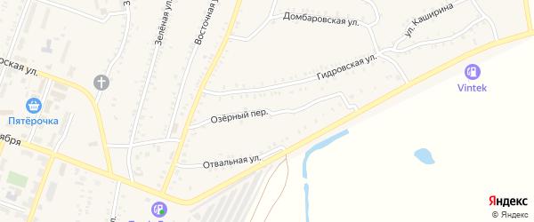 Озерный переулок на карте Красногорского поселка с номерами домов